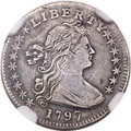 Early Half Dimes, 1797 H10C 16 Stars, V-3, LM-3, R.5 -- Repaired -- NGC Details.XF....