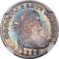 Early Half Dimes, 1796 H10C LIKERTY, V-1, LM-1, R.3 -- Improperly Cleaned -- NGCDetails. AU....