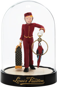 "Louis Vuitton Red Le Groom Dome Figurine Excellent Condition 3.25"" Width x 4.5"" Height x 3.25"" De"