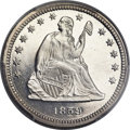 Proof Seated Quarters, 1859 25C PR65 Deep Cameo PCGS....