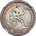 Seated Dimes, 1872 10C MS66+ NGC. Fortin-102, R.2....