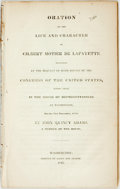 Books:Americana & American History, John Quincy Adams. Oration on the Life and Character of GilbertMotier de Lafayette, et al. Washington: Printed ...