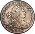 Early Half Dimes, 1796 H10C LIKERTY, V-1, LM-1, R.3, VF35 PCGS....