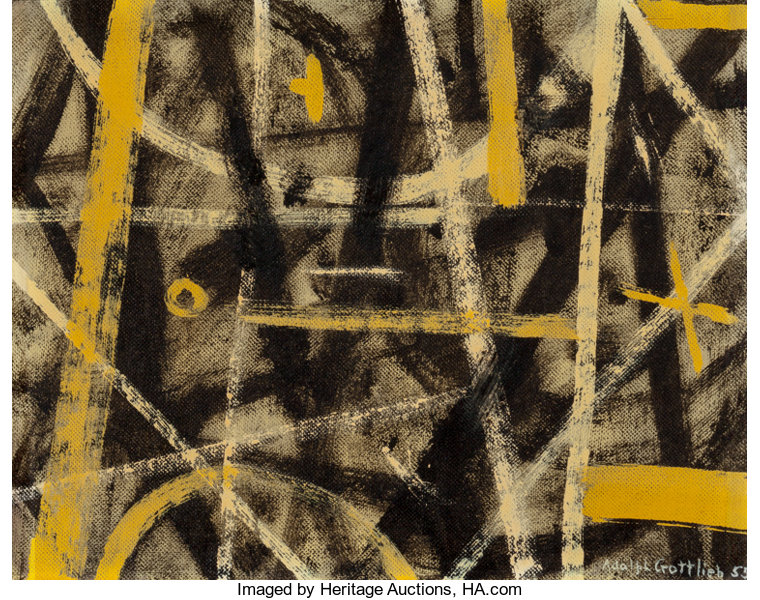 Adolph Gottlieb American 1903 1974 Labyrinth 1955 Oil And
