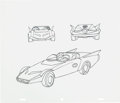 Animation Art:Color Model, All-New Super Friends Hour Batmobile and Bat-Multicraft LineArt Model Sheet Group (Hanna-Barbera, 1977).... (Total: 2 OriginalArt)