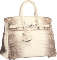 78879428a88b Hermes 25cm Matte White Himalayan Nilo Crocodile Birkin Bag with Palladium  Hardware Pristine Condition lt