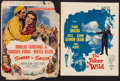 "Movie Posters:Adventure, Sinbad the Sailor & Others Lot (RKO, 1946). Trimmed WindowCards (4) (14"" X 17"", 14"" X 17.5"", 14"" X 19"") & Commercial BookP... (Total: 5 Items)"