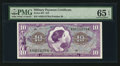 Military Payment Certificates:Series 651, Series 651 $10 PMG Gem Uncirculated 65 EPQ.. ...