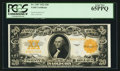 Large Size:Gold Certificates, Fr. 1187 $20 1922 Gold Certificate PCGS Gem New 65PPQ.. ...