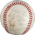 Autographs:Baseballs, Circa 1970 Hall of Famers Multi-Signed Baseball with JackieRobinson....