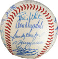 Autographs:Baseballs, 1963 National League All-Star Team Signed Baseball....