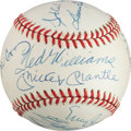 Autographs:Baseballs, Circa 1990 500 Home Run Club Multi Signed Baseball....