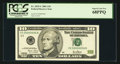 Small Size:Federal Reserve Notes, Serial Number Six Fr. 2035-C $10 2001 Federal Reserve Note. PCGS Superb Gem New 68PPQ.. ...