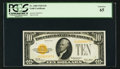 Small Size:Gold Certificates, Fr. 2400 $10 1928 Gold Certificate. PCGS Gem New 65.. ...