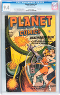 Golden Age (1938-1955):Science Fiction, Planet Comics #43 (Fiction House, 1946) CGC NM 9.4 Off-white towhite pages....