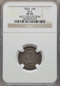 Bust Dimes, 1825 10C JR-3, R.3, VF35 NGC. Ex: Hilt Collection. NGC Census:(2/0). Mintage: 410,000. ...