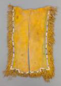 American Indian Art:Beadwork and Quillwork, A PAIR OF COMANCHE BOY'S BEADED HIDE LEGGINGS. c. 1880...