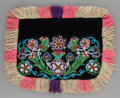 American Indian Art:Beadwork and Quillwork, AN ATHABASKAN BEADED CLOTH DOG BLANKET...