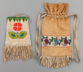 American Indian Art:Beadwork and Quillwork, TWO ATHABASKAN/PLATEAU BEADED HIDE POUCHES... (Total: 2 Items)