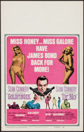 "Movie Posters:James Bond, Goldfinger/Dr. No Combo (United Artists, 1966). Window Card (14"" X 22""). James Bond.. ..."