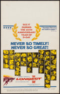 "Movie Posters:War, The Longest Day (20th Century Fox, R-1969). Window Card (14"" X22""). War.. ..."