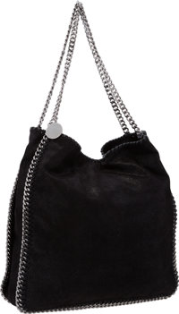 "Stella McCartney Black Shaggy Deer Falabella Tote Bag Very Good to Excellent Condition 13"" Widt"