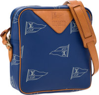 "Louis Vuitton Limited Edition Blue Canvas LV Cup Crossbody Bag Very Good Condition 8.5"" Width x 9"