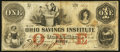 Obsoletes By State:Ohio, Tiffin, OH - Bank of the Ohio Savings Institute $1 Dec. 10, 1855....