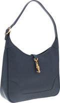 """Luxury Accessories:Bags, Hermes 31cm Blue Marine Courchevel Leather Trim II Bag with GoldHardware. Very Good Condition. 12"""" Width x 8"""" Height..."""