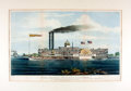 Books:Prints & Leaves, [Mississippi River]. Framed Lithographic Print Entitled, HighPressure Steamboat Mayflower. New York: N. Currier...