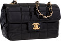 """Luxury Accessories:Bags, Chanel Black Patent Leather Mini Flap Bag with Gold Hardware .Very Good to Excellent Condition . 7"""" Width x 4.5""""Heig..."""