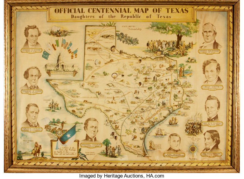 Featured Lot]. [Maps]. [Republic of Texas]. Guy Cahoon, | Lot #92285 ...