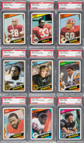 Football Cards:Lots, 1984 Topps Football PSA Graded Rookie Collection (9). ...