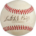 Baseball Collectibles:Balls, 1970's Satchel Paige Single Signed Baseball....