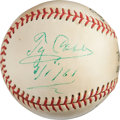 Autographs:Baseballs, 1961 Ty Cobb Single Signed Baseball....