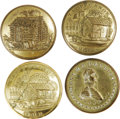 Political:Small Miscellaneous (pre-1896), Four Buttons From the 1840 Van Buren and Harrison Presidential Campaign. A group of 1840 buttons as follows: Albert PC 131, ... (Total: 4 )