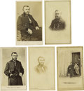 Photography:CDVs, Five Cartes de Visite of Ulysses S. Grant. Ulysses S. Grant (1822-1885), eighteenth President (1869-1877), served in the... (Total: 5 items)