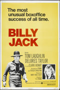"""Movie Posters:Action, Billy Jack (Warner Brothers, R-1973). Poster (40"""" X 60""""). Action.Starring Tom Laughlin, Delores Taylor, Clark Howat, Victor..."""