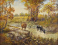 Texas:Early Texas Art - Impressionists, VIVIAN AUNSPAUGH (1869-1960). Untitled, 1952. Oil on canvas. 24in. x 30in.. Signed and dated lower left. This painting is ...