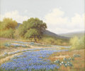 Paintings, PALMER CHRISMAN (1913-1984). Untitled Texas Bluebonnets. Oil on canvas. 20in. x 24in.. Signed lower right. Just as Porfiri...