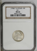 Early Dimes: , 1798/97 10C 16 Stars on Reverse MS66 NGC. JR-1. NGC Census: (3/0).PCGS Population (0/0). Mintage: 27,550. Numismedia Wsl. ...