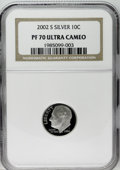 Proof Roosevelt Dimes: , 2002-S 10C Silver PR70 Deep Cameo NGC. NGC Census: (377/0). PCGSPopulation (65/0). Numismedia Wsl. Price: $100. (#95301)...