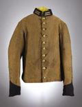 Military & Patriotic:Civil War, Confederate Veteran's Infantry Shell Jacket. This jacket was most likely used by a Confederate veteran as it dates to after ...
