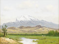 Texas:Early Texas Art - Impressionists, PORFIRIO SALINAS (1910-1973). Untitled New Mexico Landscape. Oil oncanvas. 12in. x 16in.. Signed lower left. A rare Porfi...