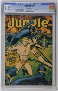 "Jungle Comics #80 Davis Crippen (""D"" Copy) pedigree (Fiction House, 1946) CGC NM- 9.2 Off-white pages. Bondage..."