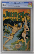 "Golden Age (1938-1955):Adventure, Jungle Comics #55 Davis Crippen (""D"" Copy) pedigree (Fiction House, 1944) CGC VF+ 8.5 Off-white pages. George Tuska, Henry K..."