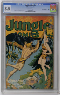 "Jungle Comics #55 Davis Crippen (""D"" Copy) pedigree (Fiction House, 1944) CGC VF+ 8.5 Off-white pages. George..."