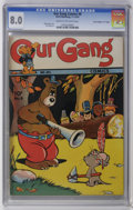 "Golden Age (1938-1955):Funny Animal, Our Gang #8 Davis Crippen (""D"" Copy) pedigree (Dell, 1943) CGC VF8.0 Cream to off-white pages. Walt Kelly cover. Carl Barks..."