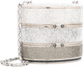 "Luxury Accessories:Bags, Judith Leiber Full Bead Crystal Train Case Minaudiere Evening Bag.Very Good to Excellent Condition . 5"" Width x 4""He..."