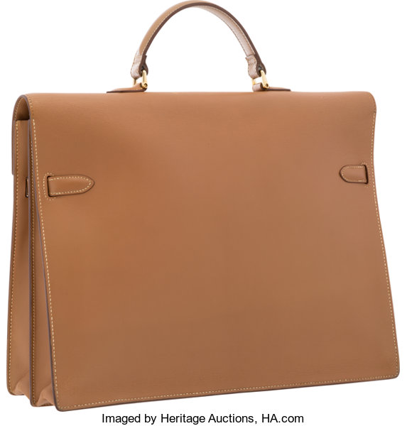 bd1ab57298ac Hermes 38cm Natural Chamonix Leather Kelly Depeches Briefcase